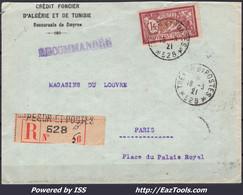 FRANCE N° 121 SEUL SUR LETTRE POUR PARIS DEPART DE SMYRNE TRESOR ET POSTES 528 - Lettres & Documents