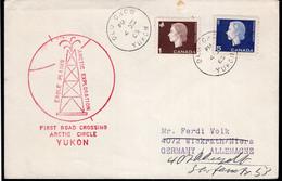 Canada - 1965 - Lettre - FDC - Eagle Plains Artic Exploration - First Road Crossing Artic Circle Yukon - A1RR2 - Fabriken Und Industrien