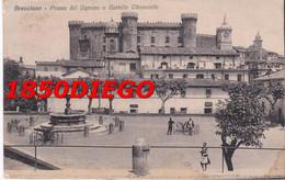BRACCIANO - PIAZZA DEL COMUNE E CASTELLO ODESCALCHI F/PICCOLO VIAGGIATA ANIMATA - Other