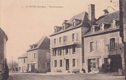 St Privat Corrèze Place Gambetta Commerces - Sonstige Gemeinden