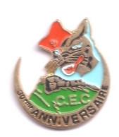 I71 Pin's Cat Chat Katz Armée Militaire 30 Anniversaire CEC 9 Régiment Zouaves Commando Algérie Achat Immédiat - Army