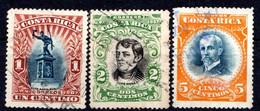 COSTA RICA - (Amérique Centrale) - 1907 - N° 55 à 58 - (Lot De 3 Valeurs Différentes) - America Centrale