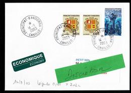ANDORRA ANDORRE Lettre Au Tarif Economique Peu Usité D'Andorre Au Tarif 0,45€ (0,41+ 2x0,02) CANILLO 14-9-2003 TB - Storia Postale