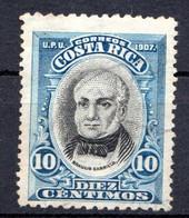 COSTA RICA - (Amérique Centrale) - 1907 - N° 59 - 10 C.bleu Et Noir - (Braulio Carrillo) - America Centrale