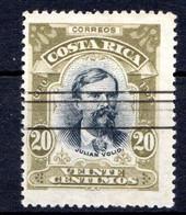 COSTA RICA - (Amérique Centrale) - 1907 - N° 60 - 20 C.vert-olive Et Noir - (Julian Vollo) - America Centrale
