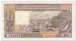 WEST AFRICAN STATES,SENEGAL,500 FRANCS,1980,P.705Kb,VF - West African States