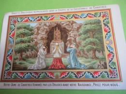 Image Pieuse Ancienne/Grotte Druidique Représentée Dans La Crypte De La Cathédrale De CHARTRES/1880 IMP54 - Images Religieuses