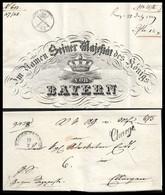 1849 17 Juli. CHARGE BRIEF MÜNCHEN N. ELLINGEN - IM NAMENS SEINER MAJESTÄTS DES KÖNIGS VON BAYERN - Vorphilatelie