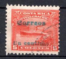 COSTA RICA - (Amérique Centrale) - 1911 - N° 84 - 1 C. S. 5 C. Rouge - America Centrale