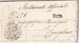 MOTTA Per Conegliano 24.2.1838 - 1. ...-1850 Prefilatelia