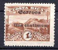 COSTA RICA - (Amérique Centrale) - 1911 - N° 90 - 2 C. S. 1 C. Brun - America Centrale