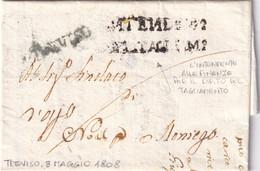 TREVISO Per Moniego 3.5.1808 - 1. ...-1850 Prefilatelia