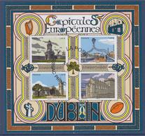 Capitale Européenne Dublin F5384 Le Château 5387 La Cathédrale 5386 Trinity College 5384 Ha'penny Bridge 5385 Oblitéré - Usati