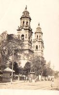 S47-031 Mexique - Carte Photo Morelia - La Cathédrale (Catedral) - Voyagé En 1913 - Mexico