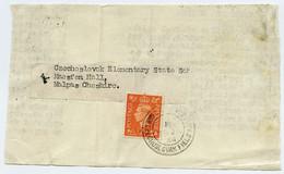 CZECHOSLOVAK FIELD POST : ELEMENTARY STATE SCHOOL, MAESFEN HALL, MALPAS, CHESHIRE, 1944 (PIECE) - Briefe U. Dokumente