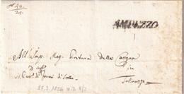 AMPEZZO Per Tolmezzo 27.3.1836 - 1. ...-1850 Prefilatelia
