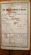 LIVRET D'HOMME DE TROUPE 19em REGIMENT D'ARTILLERIE A CHEVAL SOLDAT COURROYE CLAUDE DOMICILE A RAON AUX BOIS  56 PAGES - Documents