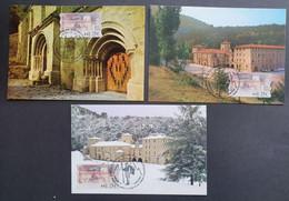 3 Tarjetas Máxima ESPAÑA: ATM Monasterio De Santo Toribio De Liebana - Cartoline Maximum