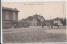 CPA -74 - ANNEMASSE (Haute-Savoie) - Place De La Gare, Le TRAMWAY ELECTRIQUE Devant L' Hôtel De La Gare En 1907 - Tramways
