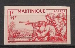 Martinique - 1941 - N°Yv. 186a - Défense De L'empire - Non Dentelé / Imperf. - Neuf Luxe ** / MNH / Postfrisch - Neufs