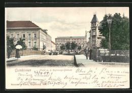 AK Gumbinnen, Markt Mit Regierungs-Gebäude - Ostpreussen