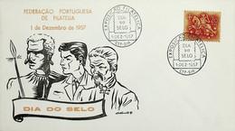 1957. Portugal. Dia Do Selo - Exposição Filatélica - Briefmarkenausstellungen