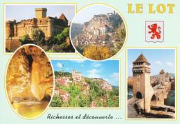 46 Le Lot Castelnau Rocamadour Padirac Saint Cirq Lapopie Cahors (carte Vierge) - Zonder Classificatie