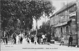 21 PONTAILLER-SUR-SAONE CAFE DE LA GARE  TRES ANIMEE - Altri Comuni
