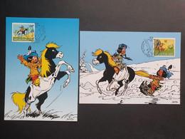 """2 Tarjetas Máxima SUIZA 2012: Comic Infantil """"Yakari"""" - Cartoline Maximum"""