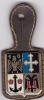 T 3/ PL Milit.3) 12 > Breloque à Identifier En Métal Support Cuir - Other