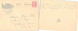 LETTRE PUBLICITAIRE CAFE TERMINUS GARE ST LAZARE PARIS 30.6.1928  /1 - Lettres & Documents