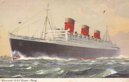 Cunard, R.M.S. Queen Mary (pk74381) - Paquebots