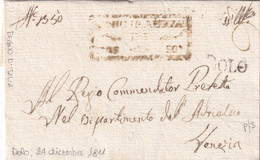 DOLO Per Venezia 24.12.1811 - 1. ...-1850 Prefilatelia