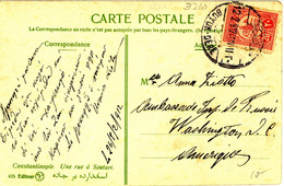 Turkey Postcard Büyükdere To USA (96) - Covers & Documents