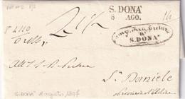 S. DONA' Per S. Daniele 8.8.1847 - 1. ...-1850 Prefilatelia