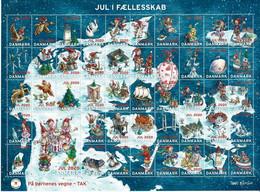 Denmark; Christmas Seals.  Full Sheet 2020;  MNH (**) - Fogli Completi