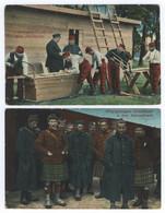 WK1 Kriegsgefangene Franzosen Beim Barackenbau Schottländer Sennelager - Guerra 1914-18