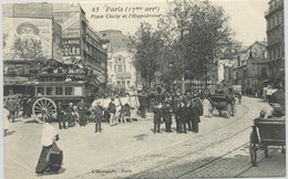 25 - PARIS XVII - Place Clichy Et L'Hippodrome - Distrito: 17