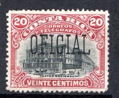 COSTA RICA - (Amérique Centrale) - 1901 - Service - N° 26 - 20 C. Lie-de-vin Et Noir - America Centrale