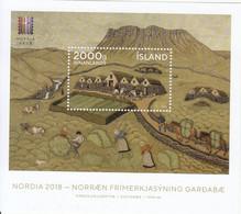 2018 Iceland Nordia 2018 Art Paintings  Souvenir Sheet MNH  @ BELOW FACE VALUE - Nuovi