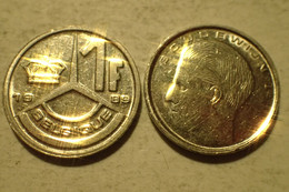 1 Franc – Belgique 1989 – Légende Flamande – Nickel – Etat SUP - 04. 1 Franc
