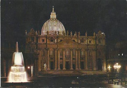 Roma - Di Notte - S. Pietro - La Nuit - S. Pierre - San Pietro