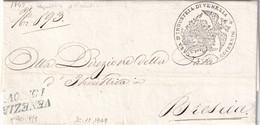 VENEZIA Per Brescia 12.11.1849 - 1. ...-1850 Prefilatelia