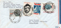 V11 96Hs  Courrier Air Mail Oblitération Timbres USA Etats Unis à France En 1963 - Cartas