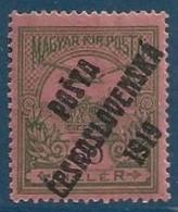 Tchecoslovaquie N°70* 60 Filler Surcharge Noire RR & TTB - Unused Stamps