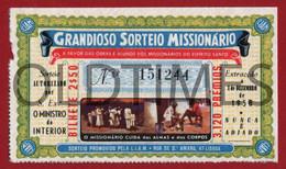 "PORTUGAL - LISBOA - SENHA DO GRANDIOSO SORTEIO MISSIONARIO ""LIAM"" - 1958 - Biglietti D'ingresso"