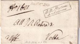 BARDOLINO Per Volta 16.2.1835 - 1. ...-1850 Prefilatelia