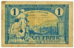 1 Franc - Avant 31.12.1925 - Chambre De Commerce Du Nord Et Du Pas-de-Calais - Chambre De Commerce