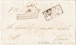 VILLANOVA Per Venezia 30.1.1831 - 1. ...-1850 Prefilatelia
