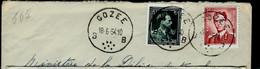 Doc. De GOZEE - B B - Du 18/06/54 En Rec. ( E ) - Landpost (Ruralpost)